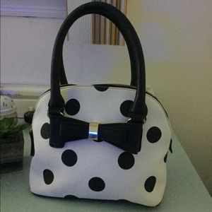 Handbags - Leather polka dotted purse